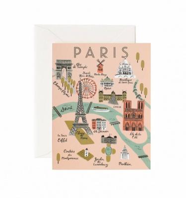 Biglietto Cartina di Parigi