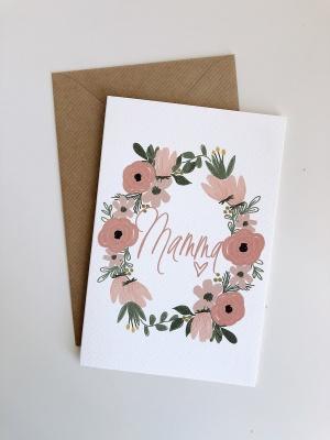 Biglietto mamma + fiori